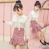 女童春裝套裝2018新款韓版時尚兒童兩件套裙女孩洋氣時髦大童裝潮