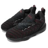 Nike Lebron XVI TD 黑 紅 16代 襪套式 免綁鞋帶 籃球鞋 童鞋 小童鞋【PUMP306】 AQ2468-002
