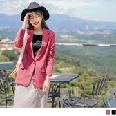 《EA2345-》質感純色修身西裝外套 OB嚴選