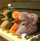 芭芭鴨兒童雪地靴女童雪地棉靴2019冬季新款保暖靴子寶寶短靴加厚-奇幻樂園