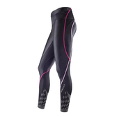 Mizuno BIOGEAR [A76BP-30094] 女款 機能 壓縮 壓力 緊身 全長 長褲 運動 慢跑 黑 粉紅
