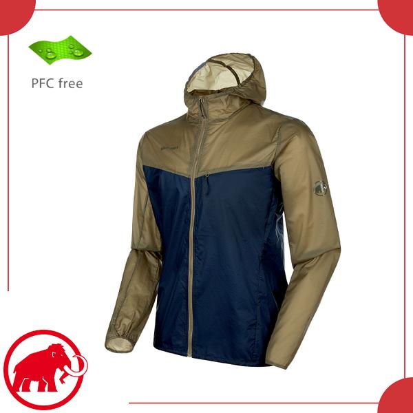 【MAMMUT 長毛象 男 Convey WB 輕量防風外套《橄欖綠/藏青》】1012-00110/連帽外套/防潑水/運動外套