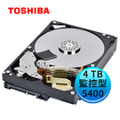 Toshiba 東芝 監控型 4TB 3.5吋 內接硬碟 (DT02ABA400V)