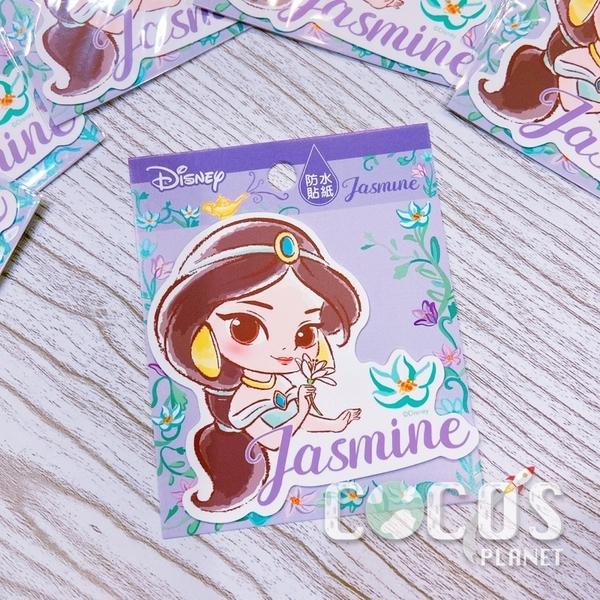 迪士尼 公主系列 茉莉公主 造型防水貼紙 壁貼 行李箱貼 筆電貼 機車貼 貼紙 COCOS TM031