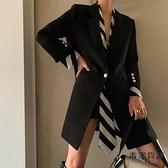 西裝外套女秋裝收腰顯瘦設計感假兩件小西服【毒家貨源】