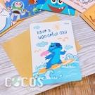 正版授權 迪士尼卡片 星際寶貝 史迪奇 ㄚ醜 生日卡 萬用卡片 卡片 附信封 COCOS DA030