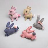 毛氈小鹿與兔子髮夾 兒童髮飾 毛氈 造型髮飾