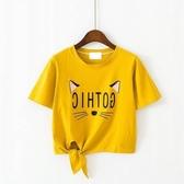 女童短袖上衣 童裝女童T恤夏季新純棉正韓洋氣時髦短袖中大童休閒上衣潮-Ballet朵朵