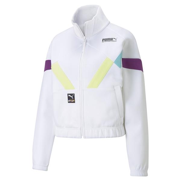 PUMA 蔡依林代言著用款 女款白色立領外套-NO.59969002