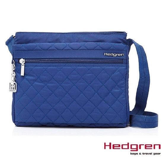 Backbager 背包族【比利時Hedgren】HDIT -Diamond 鑽石系列 多夾層輕薄側背包/斜背包_藍色
