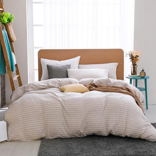 床包薄被套組 雙人特大 天竺棉 悠悠卡[鴻宇]M2619