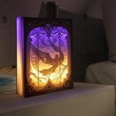 diy光影紙雕燈 diy材料包手工製作3d立體疊影處女座抖音剪紙刻燈 - 歐美韓熱銷