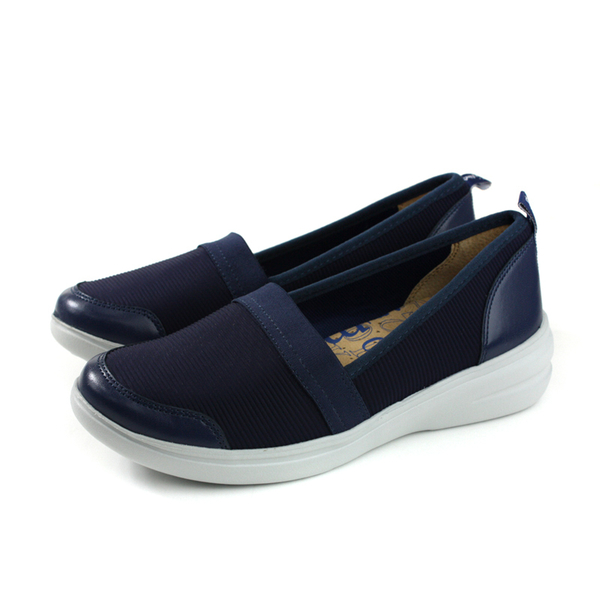 Kimo 懶人鞋 休閒鞋 女鞋 深藍色 針織 KAIWF071026 no851