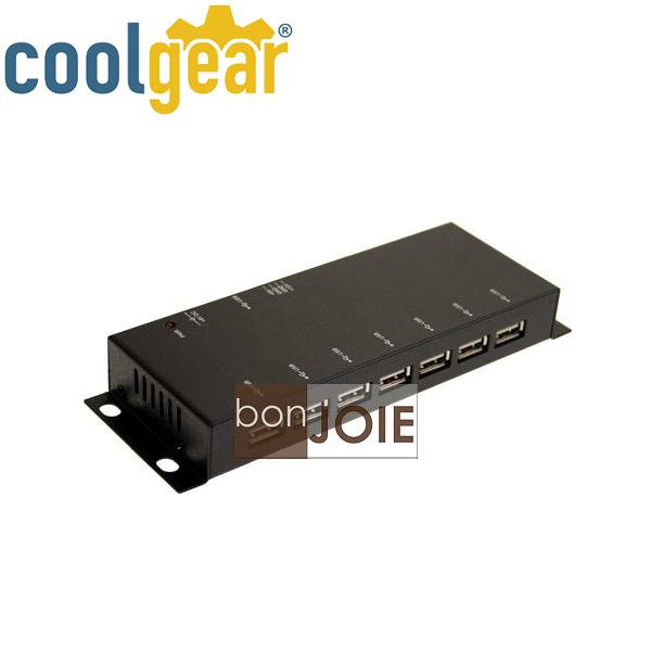 ::bonJOIE:: 美國進口 CoolGear Metal 7 Port USB 2.0 Powered Slim Hub 金屬外殼七孔集線器 (USBG-7U2ML) 鐵殼 7-Port