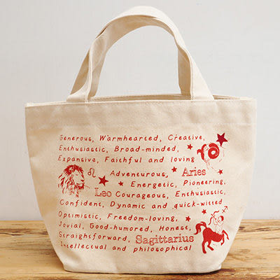 〔apmLife 生活雜貨〕十二星座特質帆布手提袋