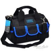 工具包帆布多功能手提單肩電工工具包五金維修包手動工具包 果果輕時尚