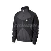 Nike 外套 NSW Woven Jacket 黑 灰 男款 風衣外套 立領 運動休閒 【PUMP306】 BV5211-060