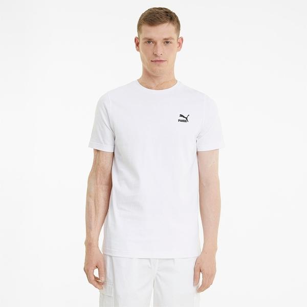 PUMA 上衣 短T CLASSIC 白 刺繡小LOGO T恤 短袖 男 (布魯克林) 59979502