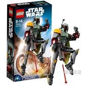 積木星球大戰系列75533波巴·費特積木玩具xw