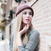 羊毛帽-時尚百搭秋冬保暖男女針織帽3色73id27[時尚巴黎]