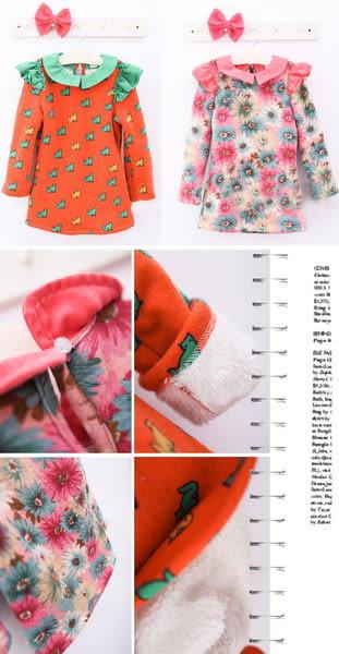 *╮小衣衫S13╭* 童話風圖案厚款連身裙1011128