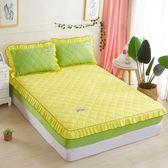 限定款鋪棉單床包/雙人素色加厚舖棉床包180x200公分席夢思/床墊保護套 床罩/床單 防滑床套保潔墊
