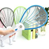 充電式電蚊拍家用帶LED燈滅蚊拍多功能蒼蠅環保蚊子拍igo  蜜拉貝爾