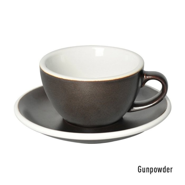 【沐湛咖啡】LOVERAMICS 愛陶樂 蛋形系列 咖啡杯盤組 (職人色系) 250ml 拉花杯