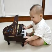 年終盛宴  迷你小鋼琴擺件 嬰幼兒童樂器音樂玩具 仿真鋼琴可彈奏音樂盒禮物 初見居家