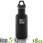【KLEAN KANTEEN 美國 18盎司窄口經典款(44mm)《消光黑》】K18CPPL/水壺/水瓶/運動鋼瓶
