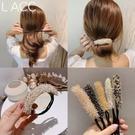 盤髪器 2020韓國代購新款丸子頭盤髮器網紅懶人珍珠鉆編髮造型神器女