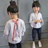 童裝衛衣中大童長袖秋裝拼接套頭