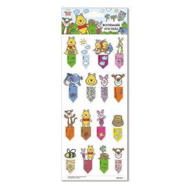 【收藏天地】迪士尼系列*書籤貼紙-小熊維尼(2款)