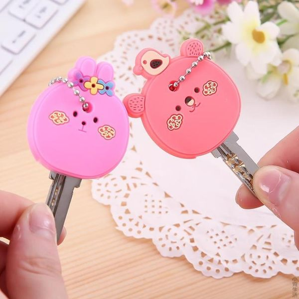 可愛卡通鑰匙扣 可掛硅膠鑰匙套 鑰匙保護套 創意鑰匙扣掛件JRM-1608