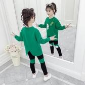 女童秋裝套裝洋氣網紅兒童裝2019年新款休閒兩件套春秋小女孩衣服