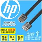 100公分【HP 超速網路線】扁線設計 Network Cable Cat6 網路線 路由線 網路傳輸線