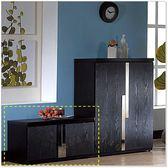 【水晶晶家具】艾克81*43cm黑色PVC耐磨皮雙門座鞋櫃 JF8301-1