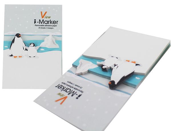 【卡漫城】 I-Marker 便利貼 企鵝 ㊣版 造型 便條紙 Memo 貼 辦公室 創意 趣味 N次貼 留言貼