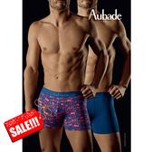 Aubade壞男人M舒棉平口褲(楓葉2件組)