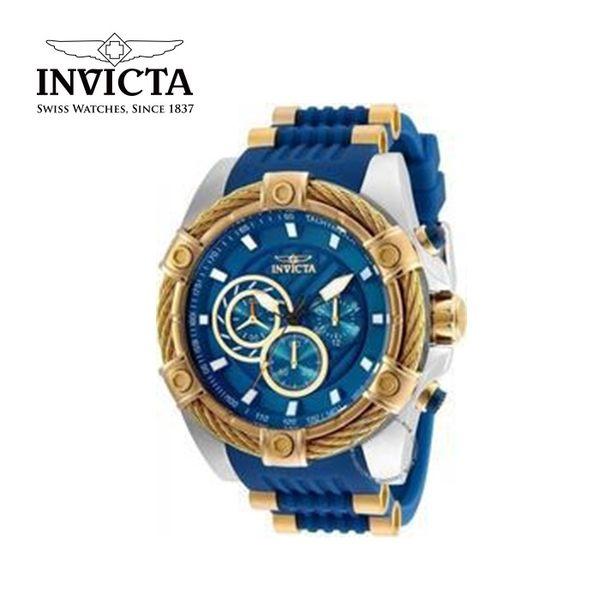 【INVICTA】新一代極致繩索腕錶 52mm - 藍色白錶框