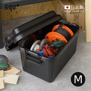 【日本squ+】VARIOUS BOAT日製耐壓收納箱-M-4色可選軍綠