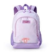 小禮堂 蹦蹦兔 兒童尼龍雙層拉鍊後背包 書包 運動背包 (紫 小熊) 4550337-29926