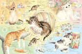 【拼圖總動員 PUZZLE STORY】貓街的朋友 日本進口拼圖/Epoch/猫町ナーゴ/1000P