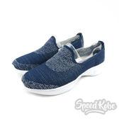 Skechers 慢跑鞋 Go WALK 4  乳癌款 藍灰編織 運動鞋 女鞋 15015NVW【Speedkobe】