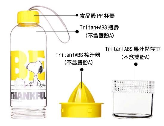 史努比檸檬杯 - 正版史努比授權,Tritan材質無雙酚A,讓您安心消暑 ~~