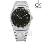 CK / K6K31143 / step 俐落極簡知性日期不鏽鋼手錶 黑色 38mm