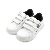 DISNEY 米奇三魔鬼氈造型板鞋 白 120301 中大童鞋 鞋全家福