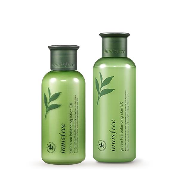 韓國 innisfree 綠茶保濕平衡化妝水 200ml/乳液 160ml 升級版【YES 美妝】