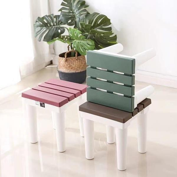 小凳子 塑料熟膠浴室小凳子衛生間矮凳洗澡凳兒童板凳家用成人防滑30cm高【快速出貨】
