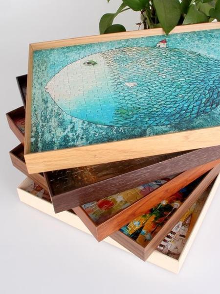 鋁合金窄邊拼圖框架1000片相框500片畫框裝裱50×75木紋相框